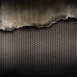 Torn metal background — Stock Photo