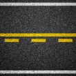 Stock Photo: Asphalt highway with road markings background