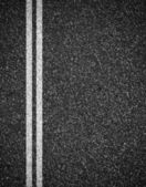 Asphalt road top view background — Stock Photo