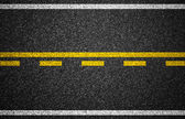 Asphalt highway with road markings background — Stock Photo