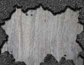 Damaged asphalt hole background — Stock Photo