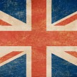 Grunge British flag - Foto de Stock