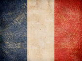Old French tricolour flag — Stock Photo