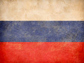 Old Russian tricolour flag — Stock Photo