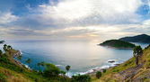 Phuket island sunset panorama. Thailand. — Stock Photo