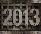 2013 new year metal illustration — Stock Photo