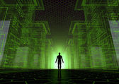 Hacker wereld — Stockfoto