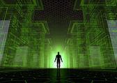 黑客世界 — 图库照片