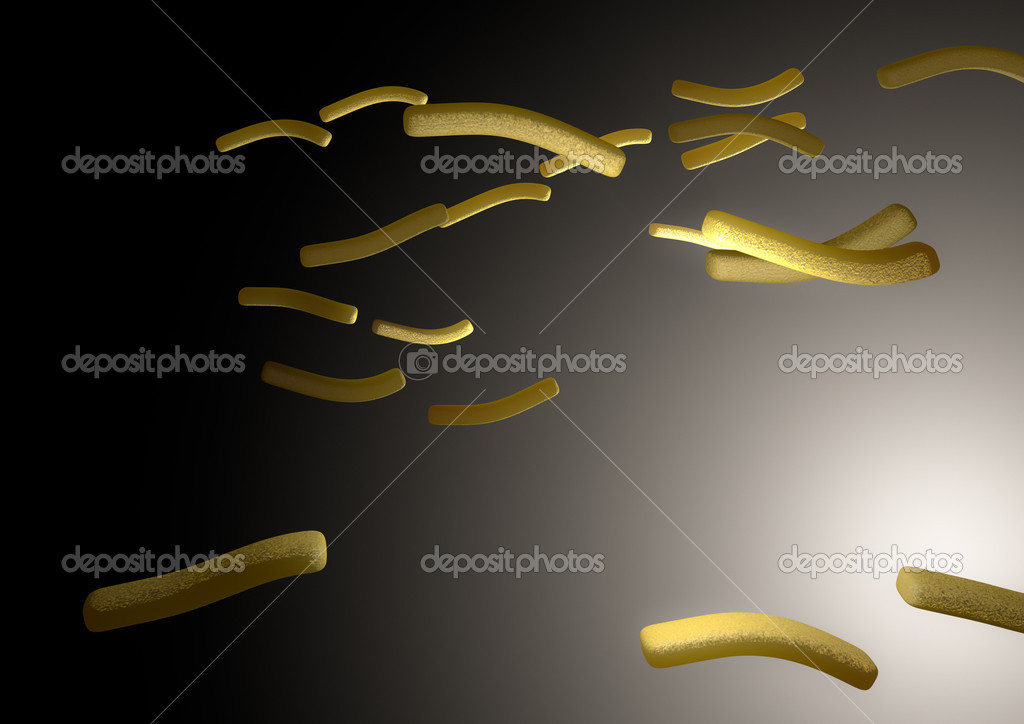 Render of flying french chips  Stock Photo #11984217