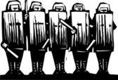 Riot Police — Stock Vector