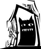 Casa del monstruo — Vector de stock