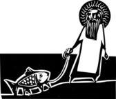 God and Darwin — Vettoriale Stock