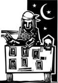 Gypsy Tarot Reading Simple — Stock Vector