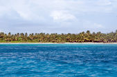 Fantastic tropical beach on the peninsula of Samana in the Dominican Republic — Stock Photo