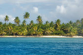Fantastic tropical beach on the peninsula of Samana in the Dominican Republic — Stock Photo