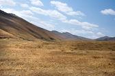 Blue sky over the vast Mongolian steppes — Stock Photo
