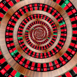Stock Photo: Roulette spiralling down