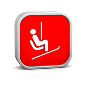 Chair lift sign — Stock Photo
