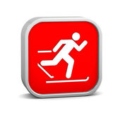 Cross country skiing sign — ストック写真