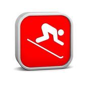 Abfahrt ski zeichen — Stockfoto