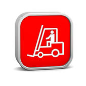 Fork lift sign — Stock Photo