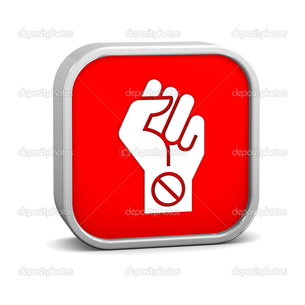 Boycott sign on a white background. Part of a series.  Stock Photo #10815887