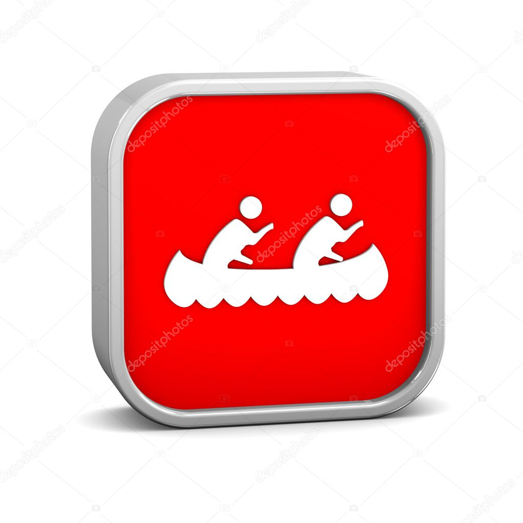 Canoe sign on a white background. Part of a series. — Stock Photo #10815977
