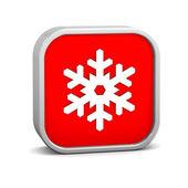 Snow sign — Stock Photo