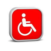 Wheelchair Accessible sign — Stock Photo