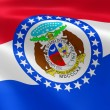 Missourian flag in the wind — Stockfoto