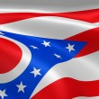 Ohioan flag in the wind — Stock Photo