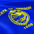 Oregonian flag in the wind — Stock Photo