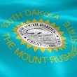South Dakotan flag in the wind - Stock Photo