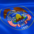 Utahn flag in the wind — Stock Photo