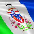 Yukoner flag in the wind — Stock Photo #12392873