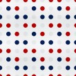 Polka Dot texture pattern with the colors of the American flag — Stock Photo
