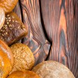 An assortment of bakery breads - Stock Photo