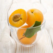 Apricots in a cup — Stock Photo