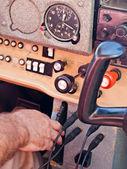En la cabina — Foto de Stock