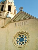 Katolska kyrkans fasad — Stockfoto