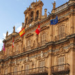 Facade of city hall in Salamanca — Stock Photo