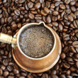 Foaming coffee — 图库照片