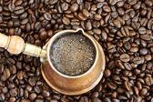 вспенивания кофе — Стоковое фото