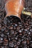 Caffettiera rame arabi — Foto Stock