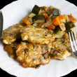 Chicken cutlets with vegetables — Stock Photo