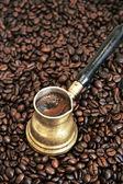 Schäumenden kaffee — Stockfoto