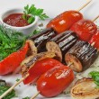 Stock Photo: Grilled vegetables and herbs