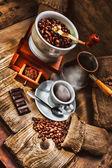 Amoladora y otros accesorios para el café — Foto de Stock