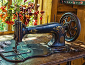 Antique sewing machine — Stock Photo