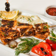 Grilled fish with vegetables and herbs — Stock Photo #11160312